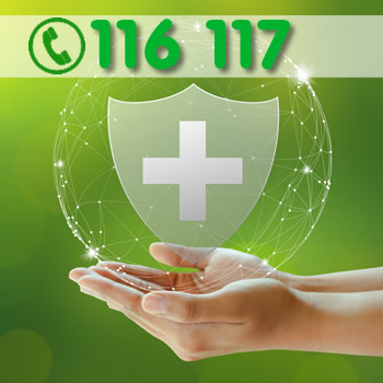 Bundesweite Notrufnummer 116117